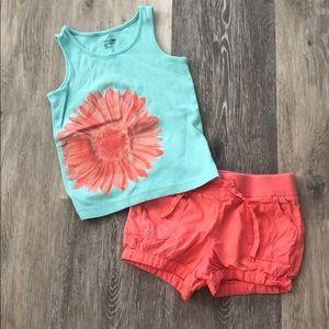 Gap shorts and top set